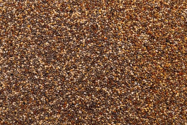Полный кадр из семян чиа.