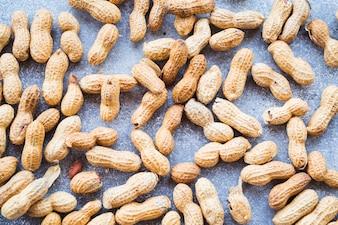 Full frame of raw peanuts