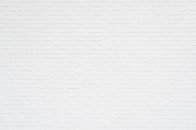 白いレンガの壁のフルフレーム