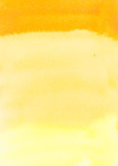 Полный кадр желтой акварелью текстурированный фон