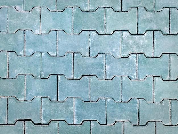 녹색 타일 된 벽돌 바닥의 풀 프레임 패턴 배경