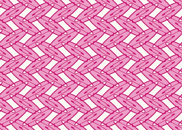 Полный кадр бесшовные иллюстрированный абстрактный фон розовый овальный узор на белом