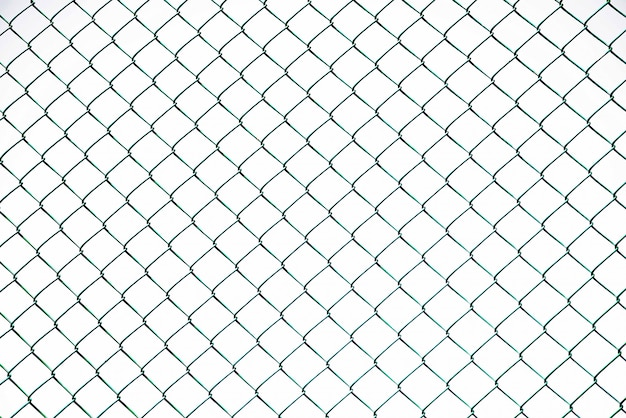 Full frame shot of chainlink fence on clear sky