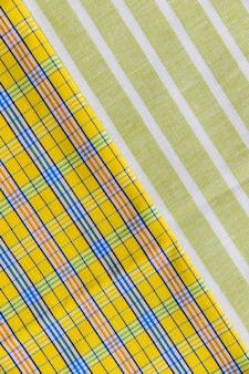 Full frame shot of chequered and line pattern textiles