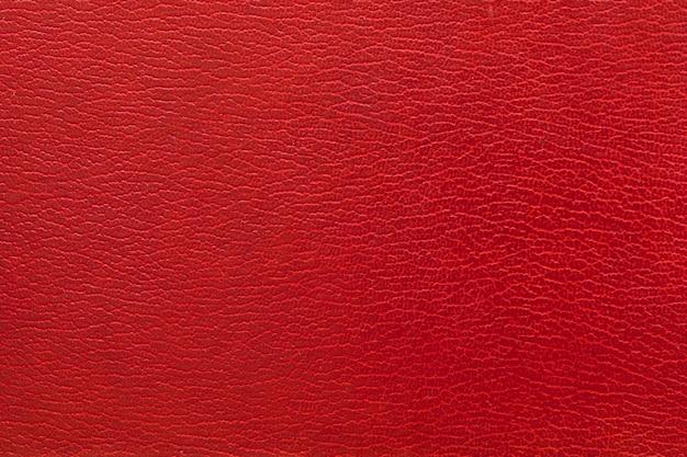 赤い革の背景のフルフレームショット