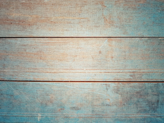 Full frame of vintage blue wooden timber board for background and surface texture.