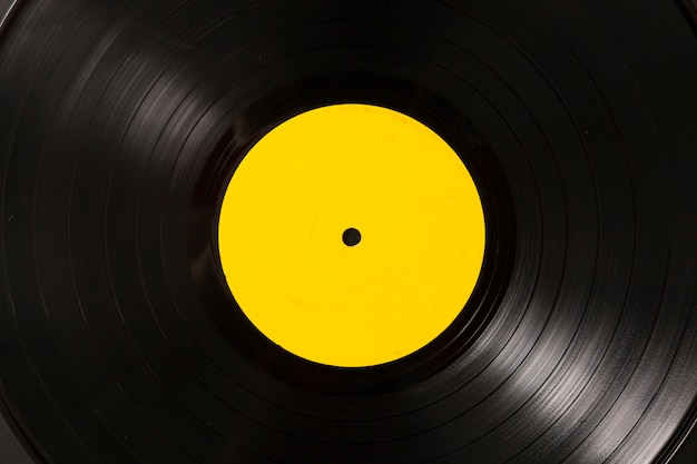 Full frame of vinyl record