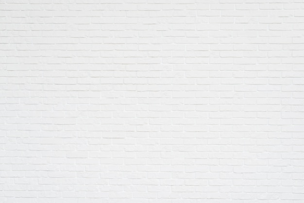 Full frame of white brick wall