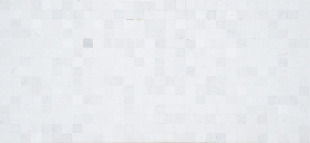 Full frame of white mosaic pattern. wallpaper and background concept. Premium Photo