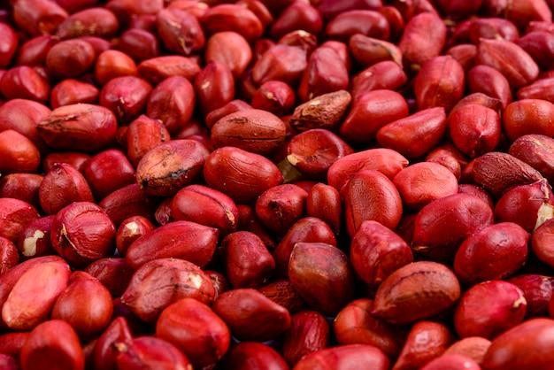 赤いピーナッツのフルフレーム。