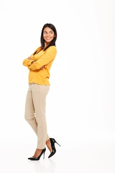 Full length portrait of an attractive confident woman