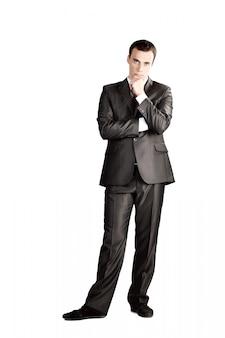 Full length suit tie businessman