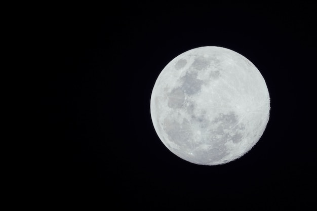 Full moon on dark background