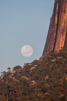 브라질 리우데자네이루의 보름달.