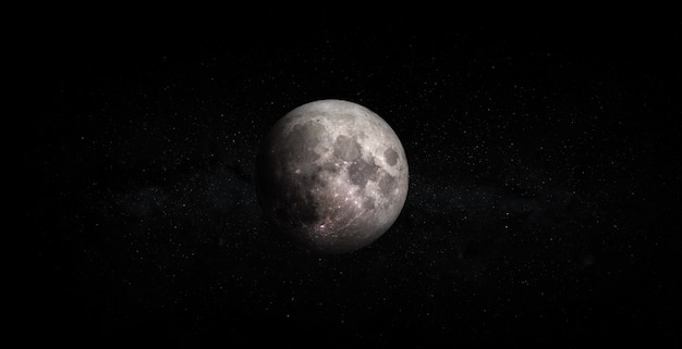 Full moon isolated on space background. elements of this image furnished by nasa.