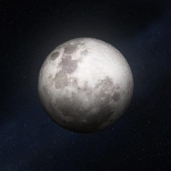 Полная луна со звездами в космическом пространстве Premium Фотографии