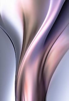 배경, 3d 이미지로 전체 화면 추상 크롬 금속