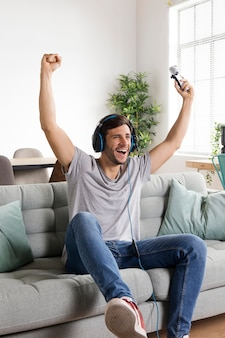 フルショット幸せな男の勝利ゲーム