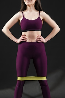 Full shot of woman doing exercises