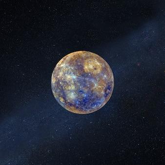 Полная суперлуна со звездами в космическом пространстве