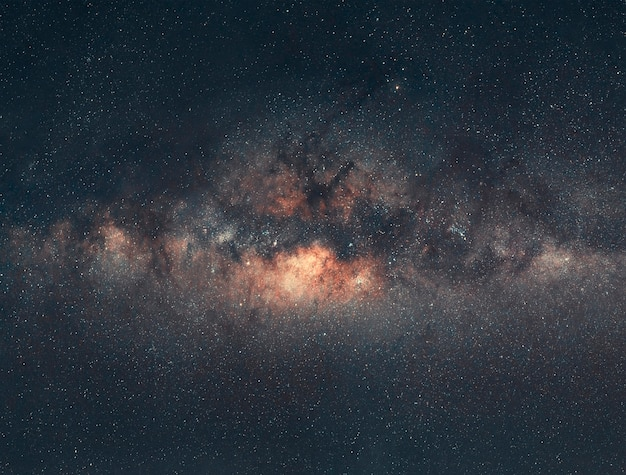 Full view of milky way galaxy with the background of night sky and stars.