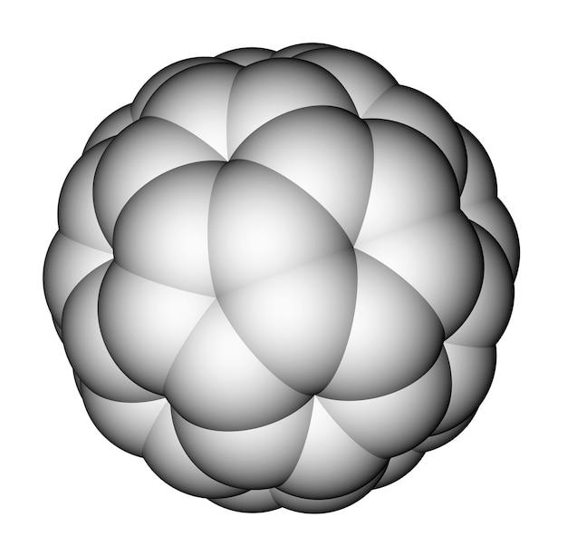フラーレンc空間充填分子モデル