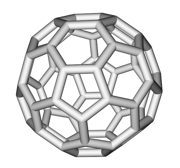 フラーレンcスティック分子モデル