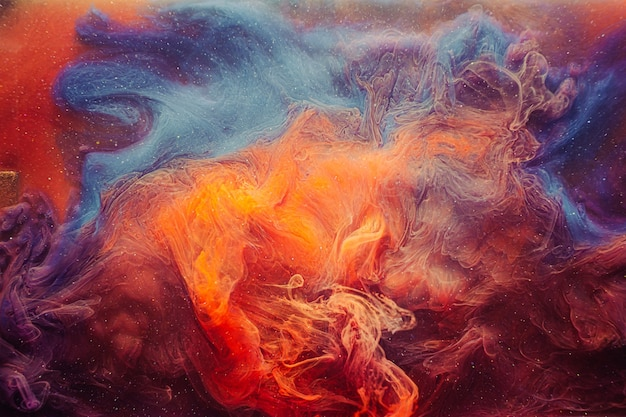 ヒュームの背景。不思議なオーラ。オレンジブルーのキラキラヘイズ。
