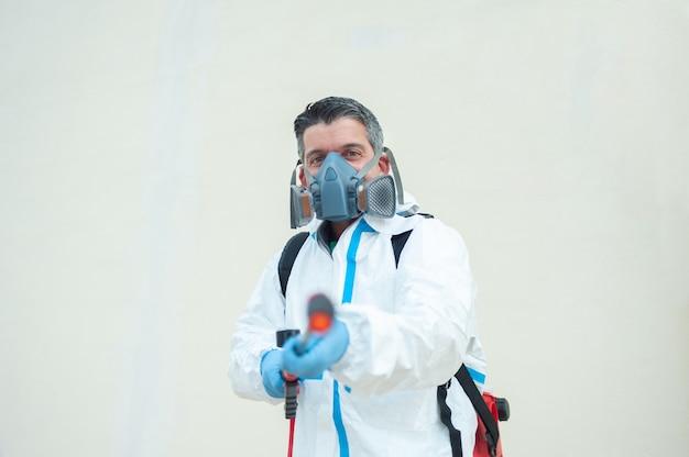 훈증기 살균 청소 및 소독 코로나 바이러스 전염병 전문 제어