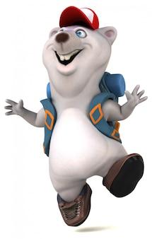 Fun 3d bear рюкзаком мультипликационный персонаж