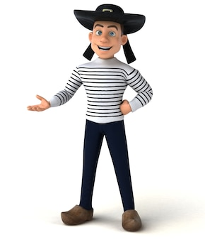 Fun 3d cartoon breton character