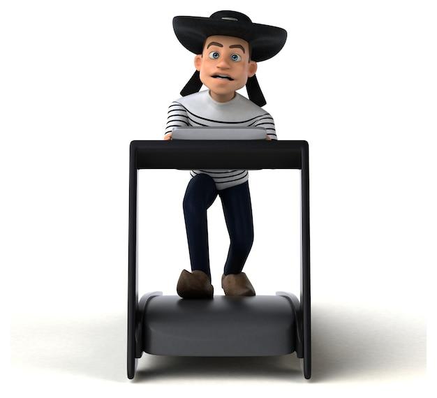 Fun 3d cartoon breton character