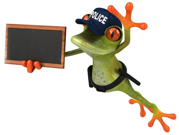 Весело 3d мультфильм лягушка полицейский