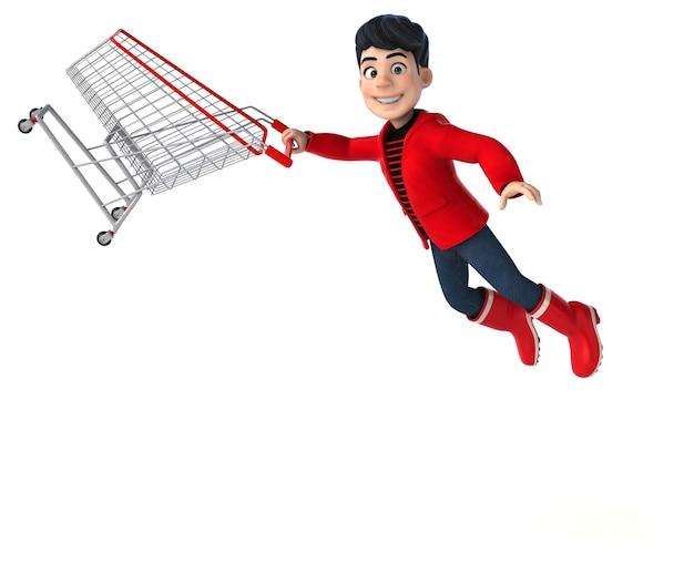 楽しい 3 d 漫画の 10 代の少年のショッピング