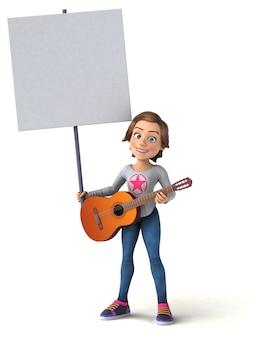 Весело 3d мультфильм девочка-подросток
