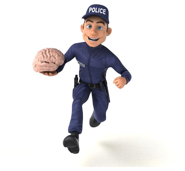 漫画の警察官の楽しい 3 d キャラクター