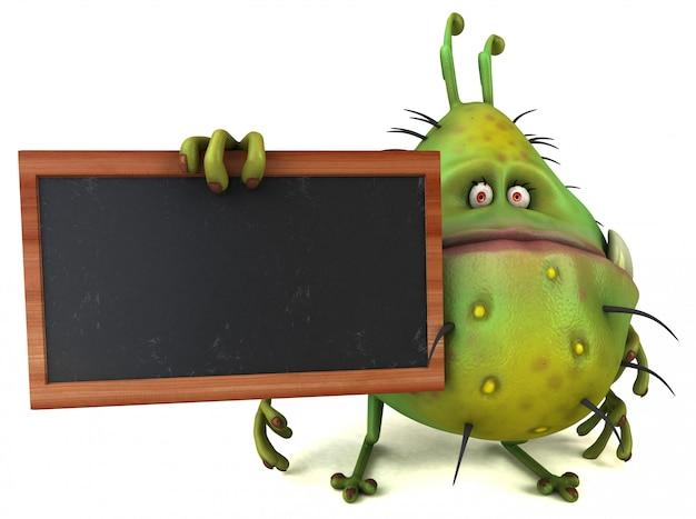 黒板で楽しい3 d生殖バグモンスター