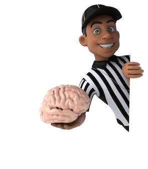 Fun 3d illustration of an american referee