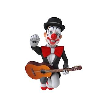 Fun 3d illustration of a fun clown