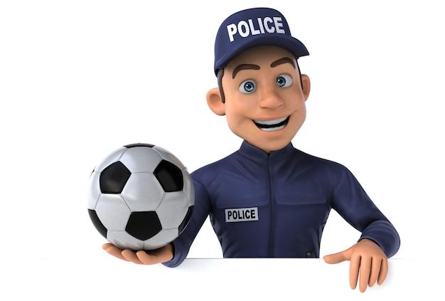 漫画の警察官の楽しい3dイラスト