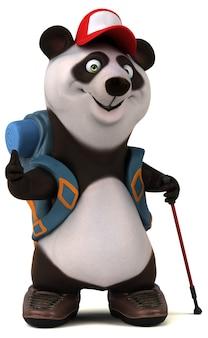 재미있는 3d 팬더 배낭 만화 캐릭터