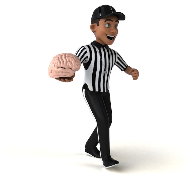 Fun 3d rendering of an american referee