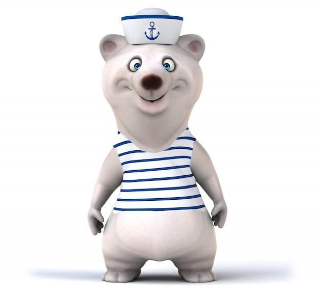 Fun 3d rendering of cute bear