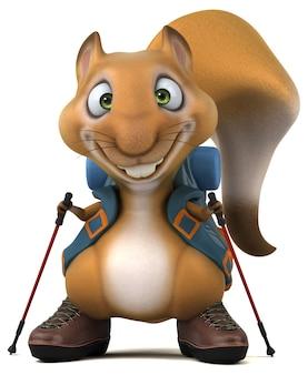 재미있는 3d 다람쥐 배낭 만화 캐릭터