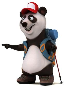 Fun 3d панда рюкзаком мультипликационный персонаж