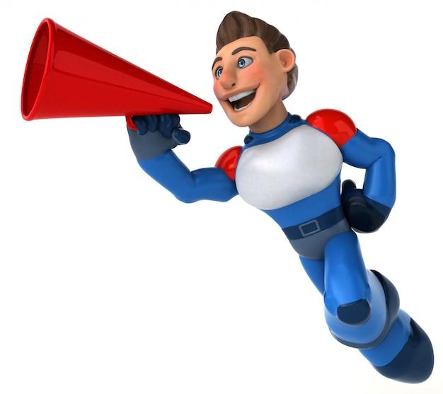 Fun современный супергерой - 3d иллюстрации
