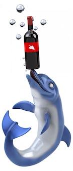 Fun дельфин - 3d иллюстрации