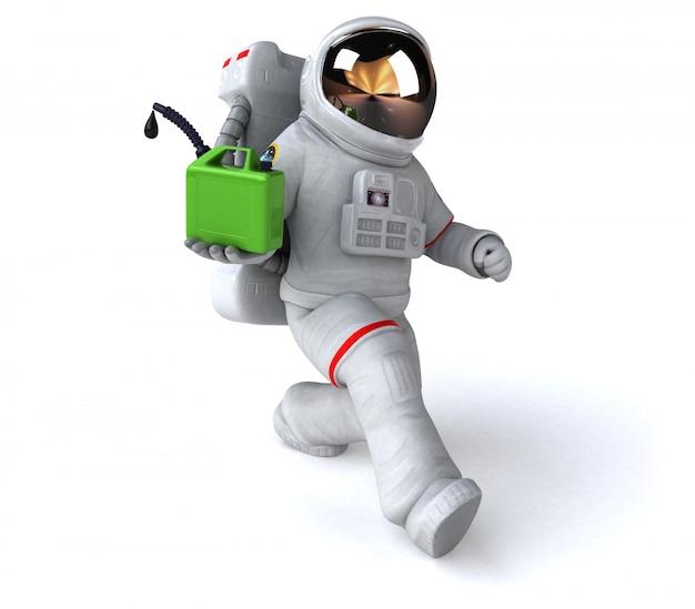 재미있는 우주 비행사-3d 일러스트 레이션