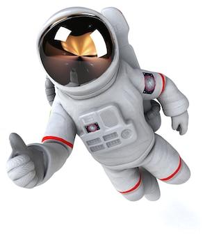 Забавный космонавт - 3d иллюстрация