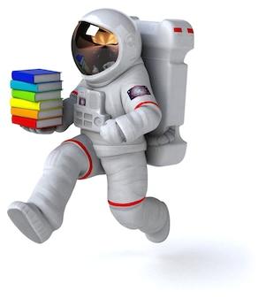 楽しい宇宙飛行士の3dイラスト